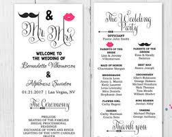 Wedding Ceremony Programs Diy Fun Wedding Programs Etsy