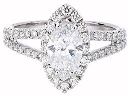 marquise halo engagement ring certified marquise cut halo engagement ring w split shank