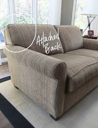 slipcovers for pillow back sofas tailored slipcover for loveseat with attached back the slipcover maker