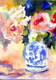 Challenge Vase Kaysmithbrushworks Roses In A Blue And White Vase Day 13 Of 30