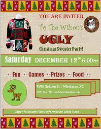 invitation flyer templates free ugly christmas sweater party invitations free downloads custom