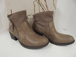 s boots taupe b o c born bendell ankle boots taupe s fabric made