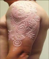 Mens Half Sleeves - half sleeve before and after scarification for
