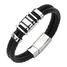 leather metal bracelet images Leather bracelets for men tribal hollywood jpg