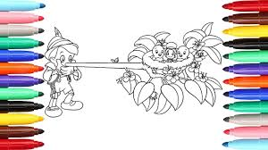 coloring pages pinocchio and jiminy cricket l how to color drawing