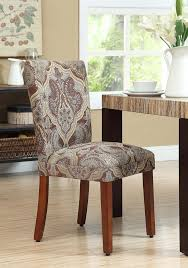 amazon com paisley fabric dining room chairs add style to your
