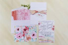 watercolor bloom wedding invitations momental designsmomental designs