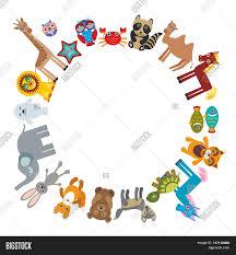 set funny cartoon animals vector u0026 photo bigstock