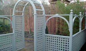 Trellis Arch Painted Classic Bespoke Trellis Panels Wooden Fence Trellis