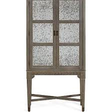 Distressed Wood Bar Cabinet Distressed Wood Patterned Overlay Mirrored Cabinet