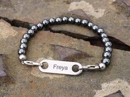 bracelet name images Ammo grey hematite beads custom id name bracelet butler and jpg