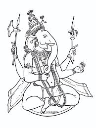 hindu elephant coloring pages getcoloringpages com