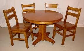 Mission Style Dining Room Tables Mission Oak Child U0027s Table U0026 Chair Dining Set Southwest Spirit