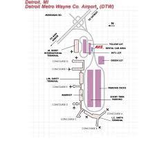 detroit metro airport map detroit michigan airport map michigan map