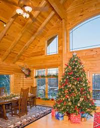 interior simple and neat log cabin homes interior living room