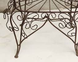 Metal Garden Furniture Pair Of Twisted Metal Garden Chairs Olde Good Things
