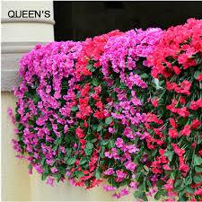 Wedding Home Decoration Aliexpress Com Buy Lifelike Violet Orchid Ivy Artificial Flower