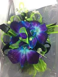 Blue Orchid Corsage Mother Of The Bride Corsage Blue Bom Dendrobium Orchid Corsage