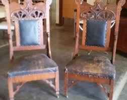 Antique High Back Chairs High Back Chair Etsy