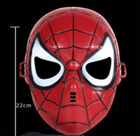 wholesale red black spiderman face buy cheap red black spiderman
