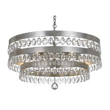 Silver Chandelier Perla Chandelier In Antique Gold By Crystorama Lighting