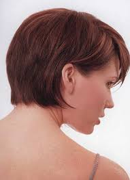 short hairstyles for women showing front and back views choppy hair cut with side fringe