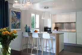 cuisine ouverte moderne cuisines semi ouvertes sur le salon ou la salle à manger côté maison