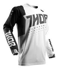 white motocross gear thor pulse aktiv jersey revzilla