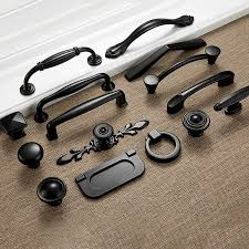 is black hardware in style american style black cabinet handles solid aluminum alloy kitchen cupboard pulls drawer knobs furniture handle hardware