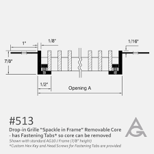 bca floor plan spackle in j frame ag10 bar grille with removable core