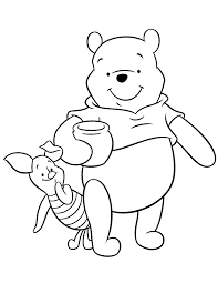 friends pooh bear piglet cartoon coloring u0026