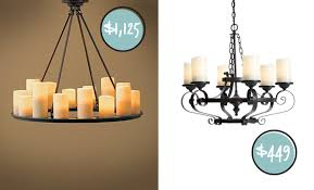 Candle Chandelier Pottery Barn Pillar Candle Chandelier Round Roselawnlutheran