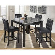 signature design by ashley maysville 5 piece square counter table