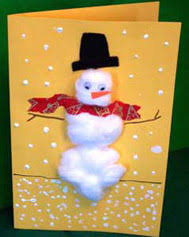 cotton ball holiday cards christmas arts crafts activity pre k