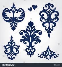 vector set baroque ornaments style stock vector