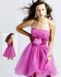 short strapless pink evening dress pictures photos and