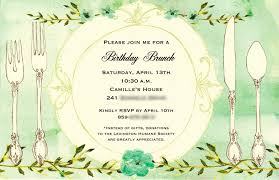 brunch invitations templates colors simple 50th birthday lunch invitations with quote