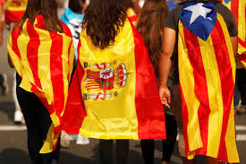 Barcelona Spain Flag Catalonia Nears Possible Independence Statement Financial Tribune