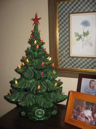 vintage ceramic christmas tree our crafty home grandmother s christmas tree