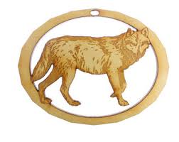 wolf ornament etsy