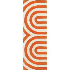 Orange Runner Rug Chandra Geometric Modern Orange Runner Collectic Home