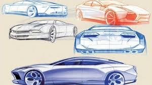 lamborghini sketch early sketches of lamborghini estoque four door concept leaked