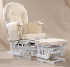 Rocking Chair Cushions White Furniture White Wooden Rocking Chair And Footrest With Cream