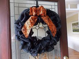 Black Halloween Wreath Wreathandvine