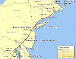 Northeast Map Of Us Lovely Amtrak Map East Coast Cashin60seconds Info
