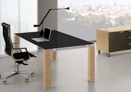 bureau noir verre bureau en verre noir trempé cube glass mobilier design professionnel