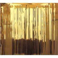 Gold Foil Curtain by 70th Birthday