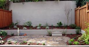 Dry Laid Bluestone Patio by Flagstone Dry Set And Stucco Planters Too Modern Allot Patio