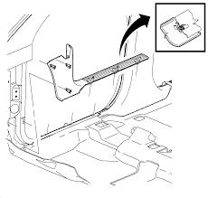 repair instructions center pillar lower garnish molding