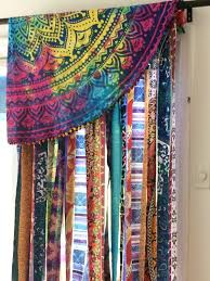 mandala tapestry curtains boho curtain dorm decor hippie morrocan